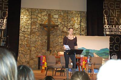 Nadia Bolz Weber, keynoter, at Montreat, Lutheran pastor.